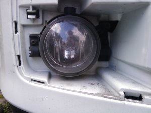 right-hand fog light screw detail